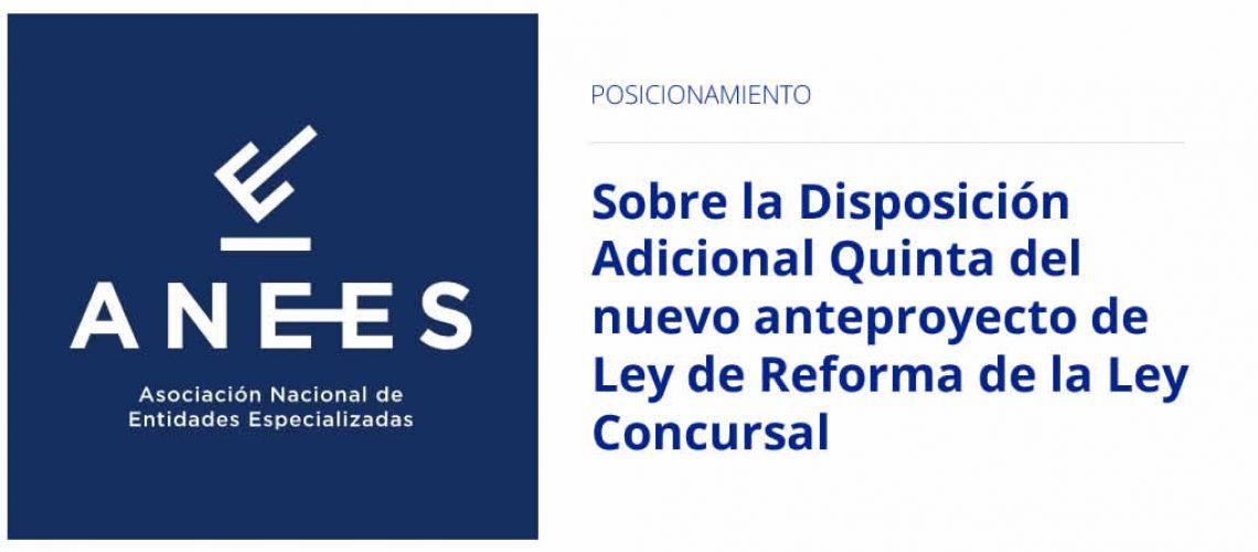 anteproyecto de ley de reforma de la ley concursal